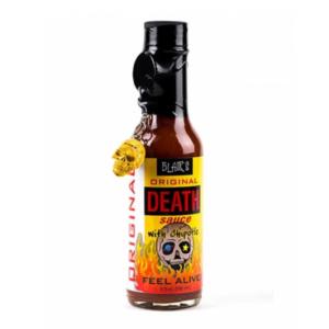 blairs original death hot sauce in a bottle