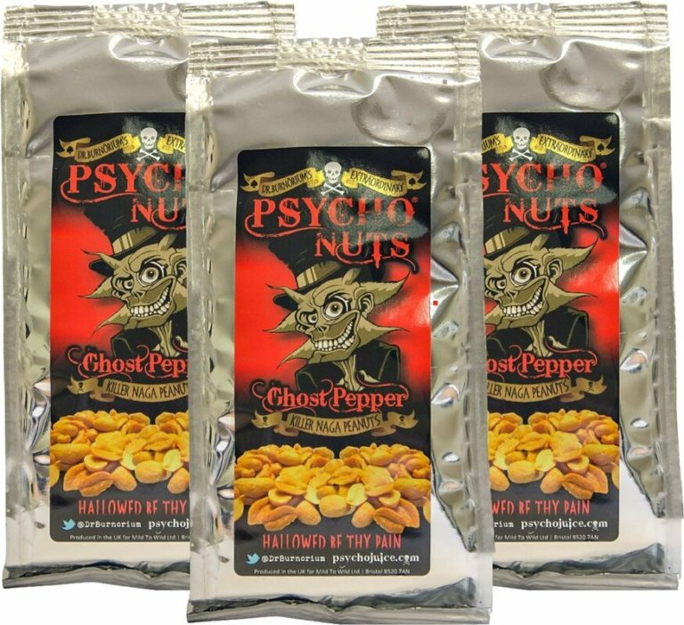 dr burnoriums psycho ghost chilli nuts blow your face off
