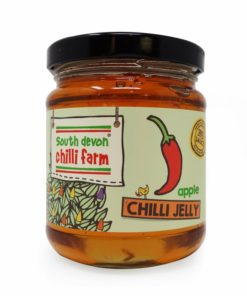south devon hot apple chilli jelly in a jar