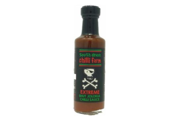 south devon extreme bhut jolokia hot sauce in a bottle gift