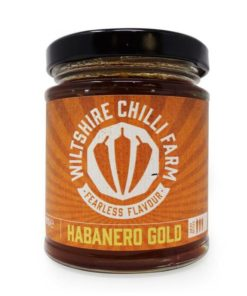wiltshire chilli farm habanero gold chilli jam in a jar