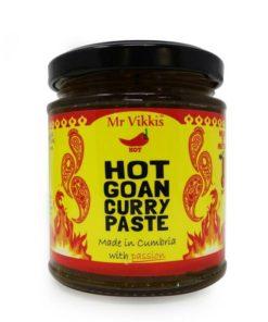 mr vikkis hot goan curry paste in a jar