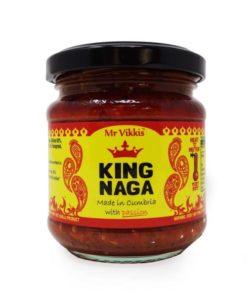 mr vikkis king naga chilli chutney in a jar