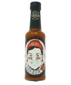 tubby toms the squealer hot sauce in a bottle