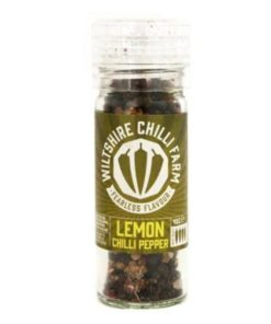 wiltshire chilli farm lemon chilli pepper hot sauce in a bottle
