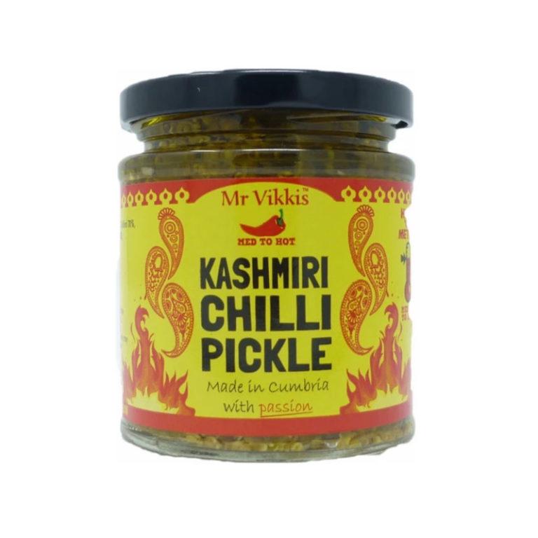 mr vikkis kashmiri chilli pickle in a jar