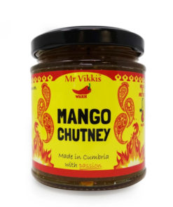 mr vikkis mango chutney in a jar