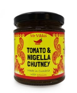 mr vikkis tomato nigella chilli chutney in a jar