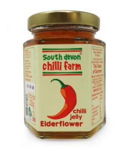 south devon elderflower chilli jelly in a jar