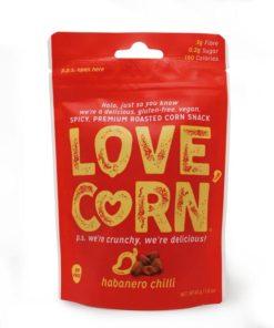 love corn habanero chilli flavour crunchy corn snack