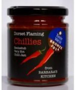 barbaras kitchen x hot beelzebub chilli jam in a jar