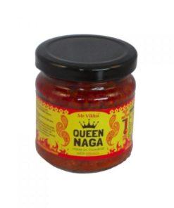 mr vikkis queen naga chilli chutney in a jar