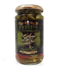 dr burnoriums psycho chilli gherkins in a jar