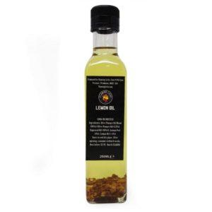 flaming licks lemon oil in a bottle