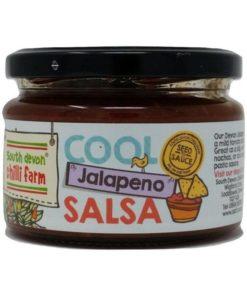 south devon jalapeno chilli salsa in a jar