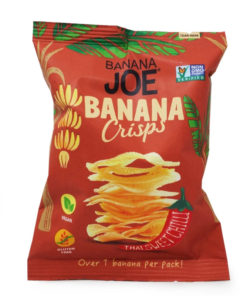 pack of banana joe thai sweet chilli banana crisps