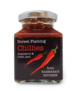 barbara's kitchen cranberry chilli jam in a jar