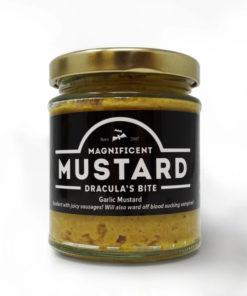 chanters mustard dracula's bite garlic in a jar