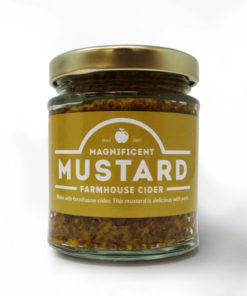 chanters mustard farmhouse cider in a jar