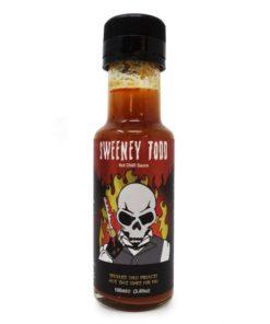 grim reaper sweeney todd hot chilli sauce in a bottle