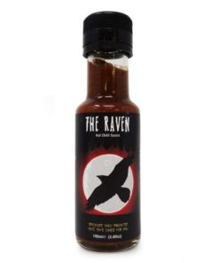grim reaper the raven hot chilli sauce in a bottle