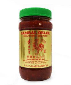 huy fong sambal oelek chilli paste in a jar
