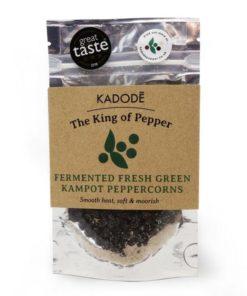 kadode kampot peppercorns fermented fresh green in a pack