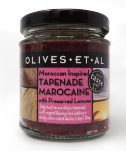 olives et al tapenade marocaine in a jar