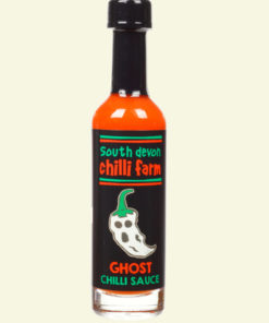 south devon ghost hot chilli sauce in a 50ml bottle