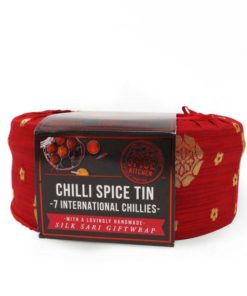 spice kitchen chilli spice tin with handmade silk wrap great gift set