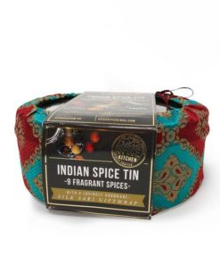 spice kitchen indian spice tin with 9 spices silk cover gift set