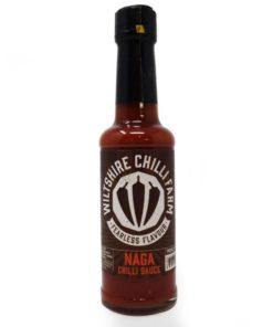 wiltshire chilli farm naga hot chilli sauce in a bottle